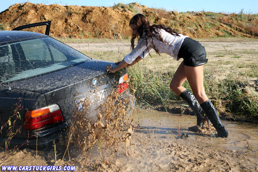 Girls Boots Stuck In Car